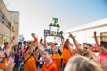 The Orange Team wins the Spirit Award