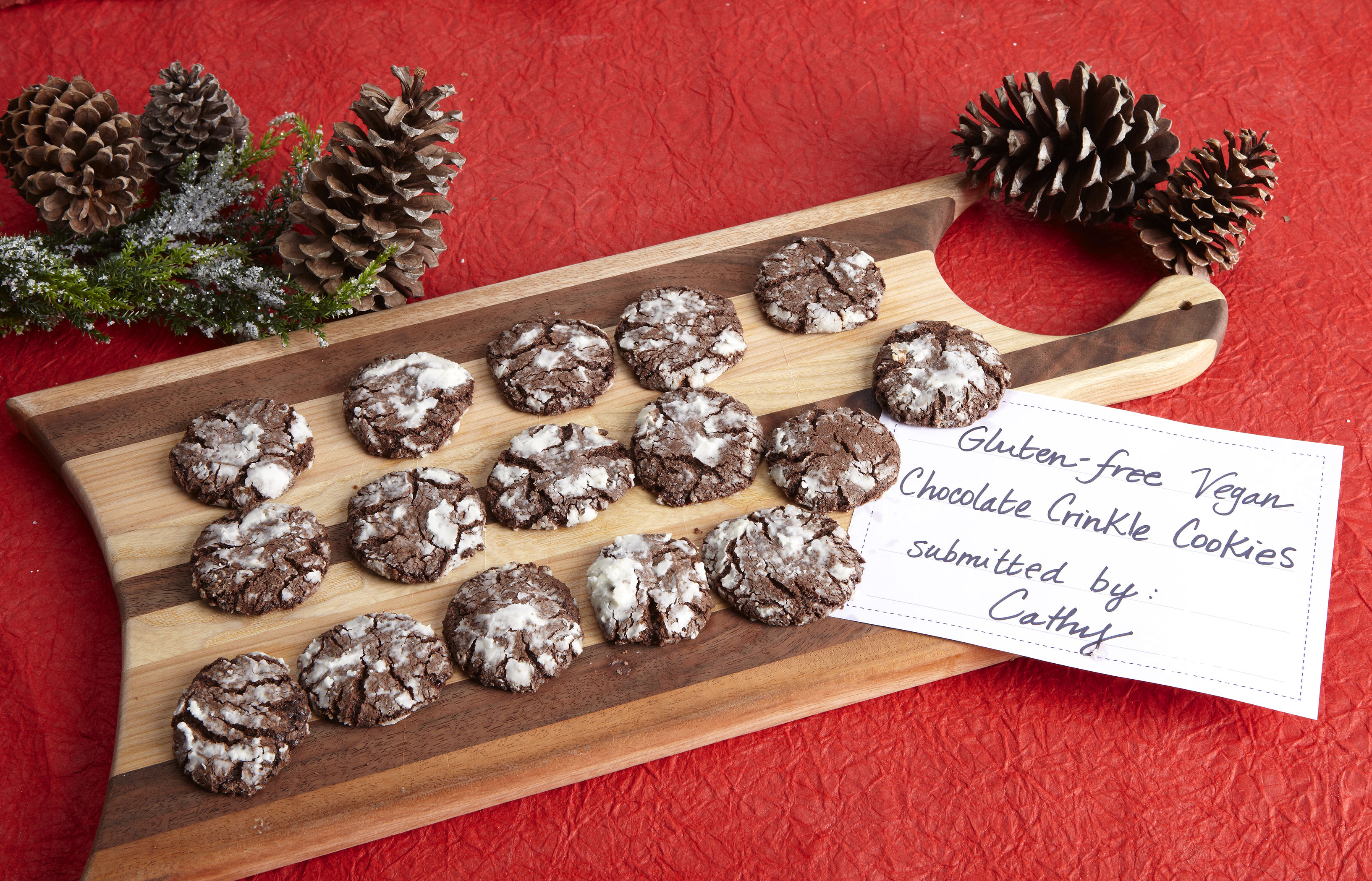 Gluten Free Vegan Chocolate Crinkle Cookies
