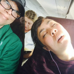 Alison can sleep anywhere