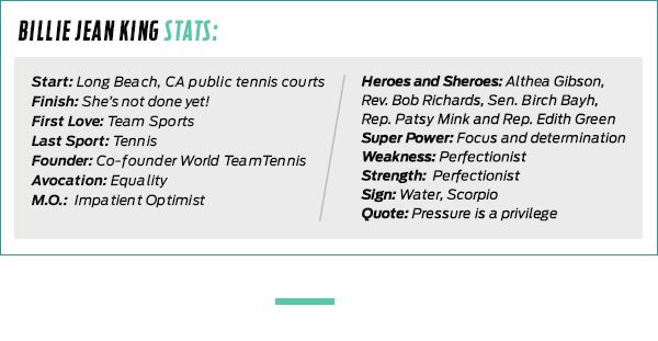 Billie Jean King Stats