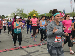 All smiles at the starting line