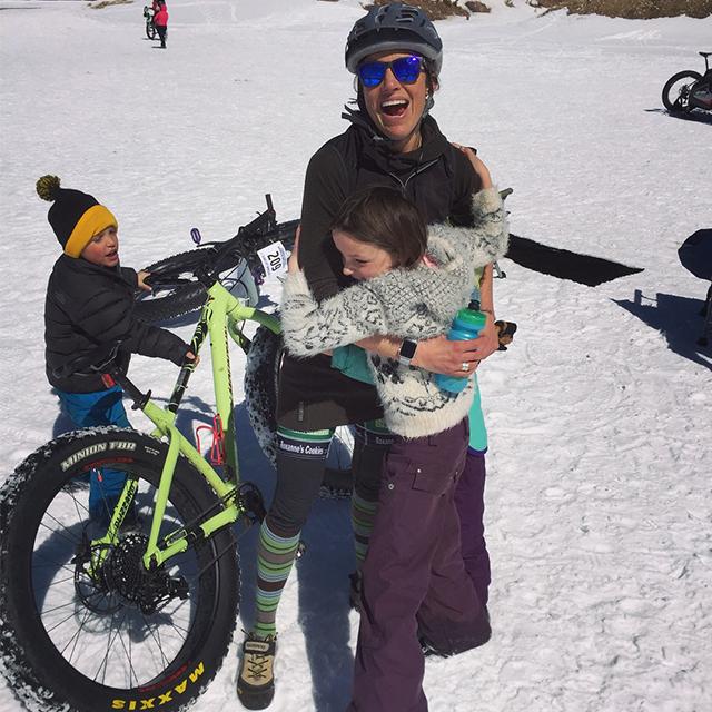 Snow bike mama