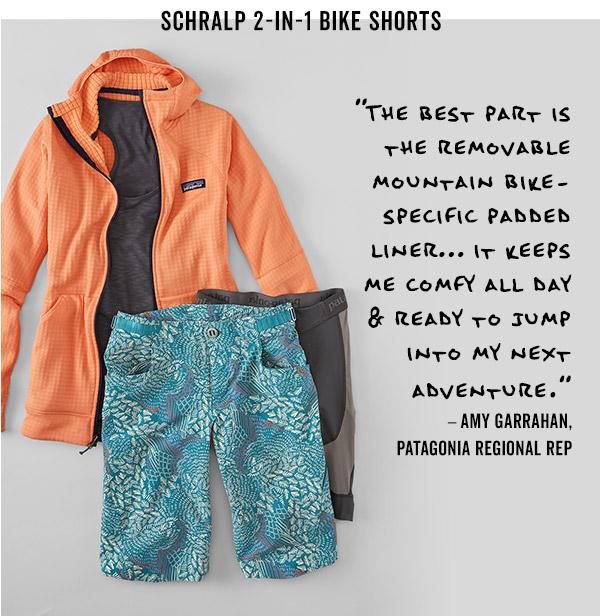 Schralp 2 in 1 bike shorts